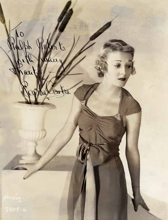 Peg LaCentra Picture Autographed to Ralph Roberts